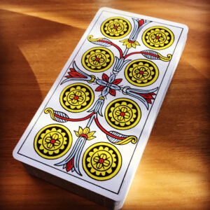 Eight of Coins, Tarot de Marseilles