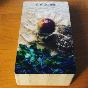Eight of Swords Crystal Skull Card