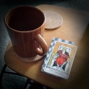 Coffee Mug and Emperor Card