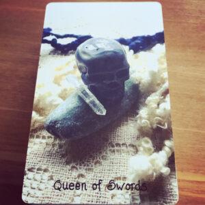 Crystal Skull Queen of Swords