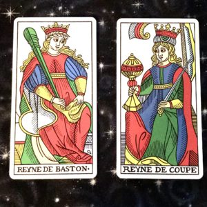 Queens of Wands and Cups