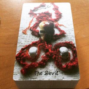 Crystal Skull Devil Card