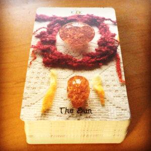 Crystal Skull The Sun Card